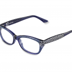 NUNZIA  c.260 – Blue with metallic blue and clear crystals