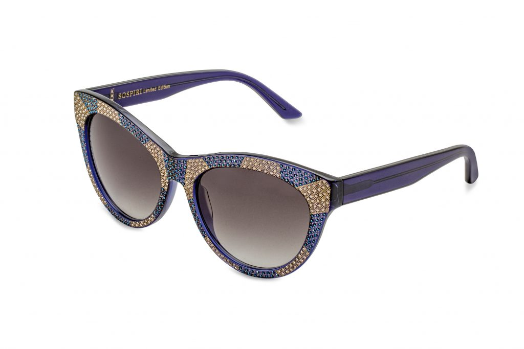 SELMA LTD c.260 – Blue with metallic blue and gold crystals