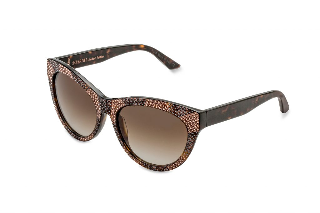 SELMA LTD c.627 – Tortoise with rose gold and black crystals