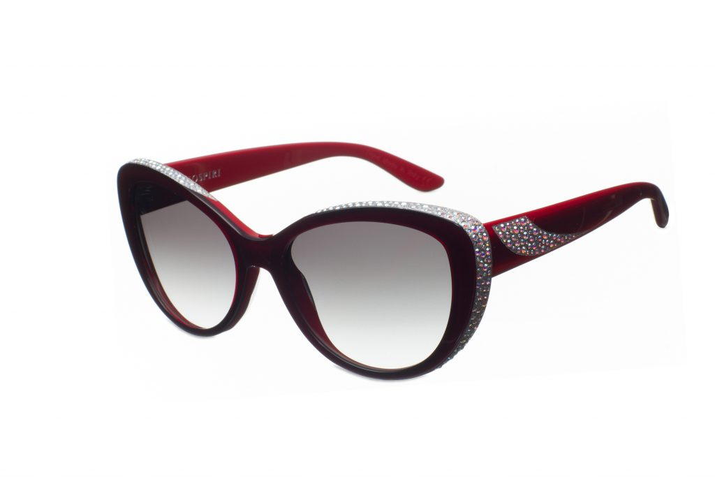 VIRGINIA c.A77 – Ferrari red with alabaster crystals and silver laserwork