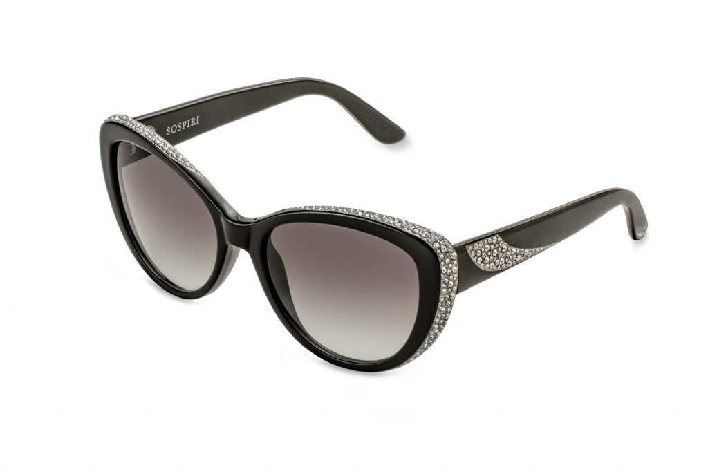 VIRGINIA c.NR – Black with clear crystals