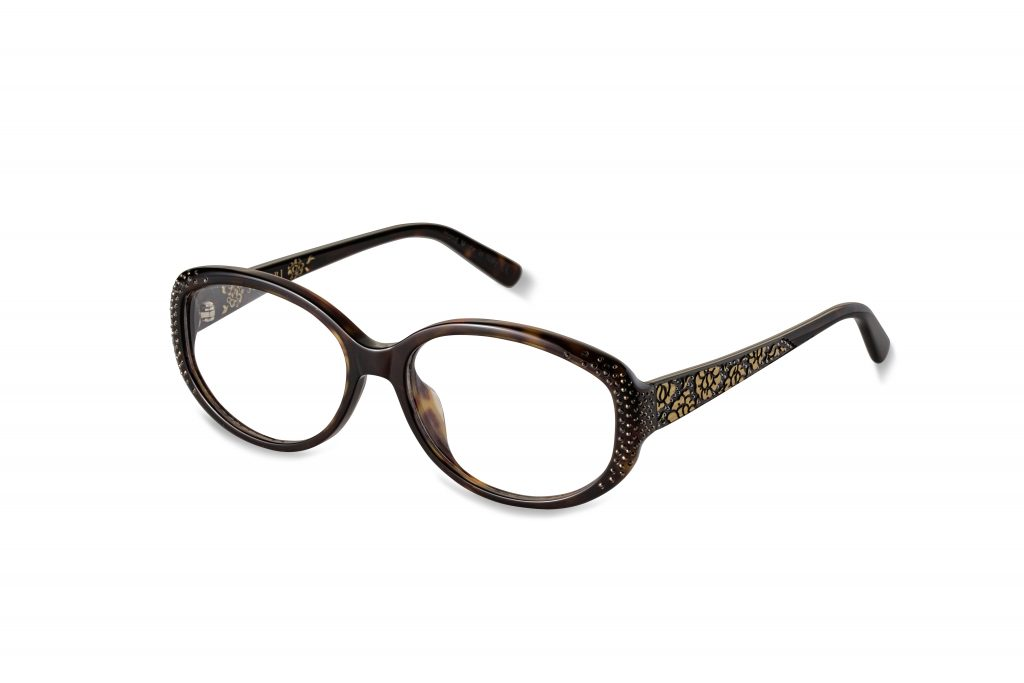 Delfina c.627 – Tortoise with black and dark bronze crystals