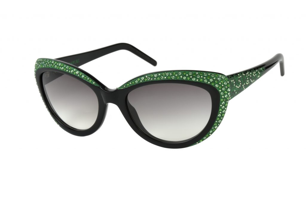 NOVELLA c.NRE – Black with green crystals and green laserwork